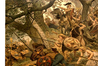 トイトブルク森の戦い - Battle of
